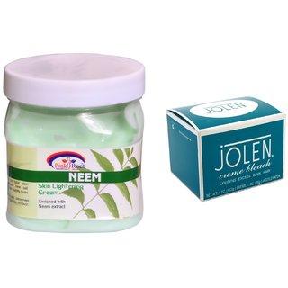 JOLEN Crme Bleach (MEDIUM) 35G and Pink Root Neem Cream 500ml
