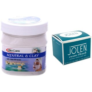 JOLEN Crme Bleach (MEDIUM) 35G and Biocare Mineral & Clay 500ml
