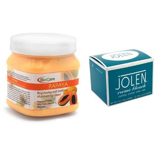 JOLEN Crme Bleach (MEDIUM) 35G and Biocare Papaya Cream 500ml