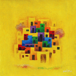Harmoney Arts Online Presents Beautiful Abstract painting For Home & Office Decor. Model no : ab302_b ( Size : 20 x 20 In. )