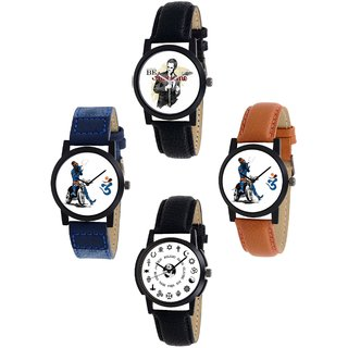 Exotica Present new Dial Watch Combo of 4 ps For Man -1234