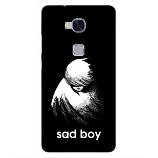 Snooky Printed Sad Boy Mobile Back Cover For Huawei Honor 5X - Multi