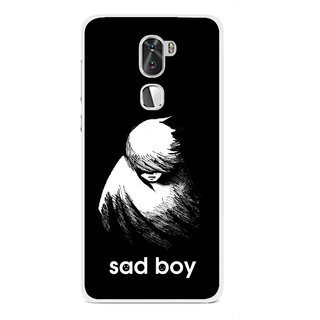 Snooky Printed Sad Boy Mobile Back Cover For Coolpad Cool 1 - Multi