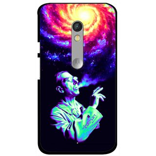 Snooky Printed Universe Mobile Back Cover For Motorola Moto X Play - Multi
