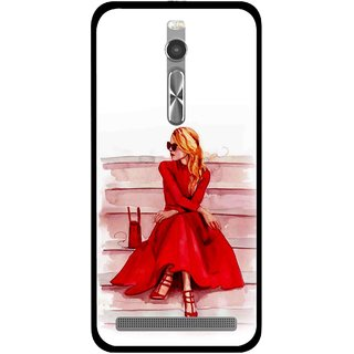 Snooky Printed Attitude Girl Mobile Back Cover For Asus Zenfone 2 - Multi
