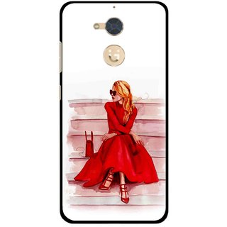 Snooky Printed Attitude Girl Mobile Back Cover For Gionee S6 Pro - Multi
