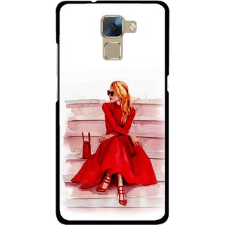Snooky Printed Attitude Girl Mobile Back Cover For Huawei Honor 7 - Multi