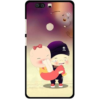 Snooky Printed Friendship Mobile Back Cover For Huawei Honor 8 - Multi