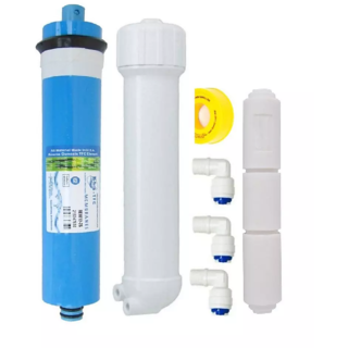 RO Membrane Hi-Tech 75GPD + Membrane Housing + FR450+Taflon tape +Elbow for RO Water Purifier