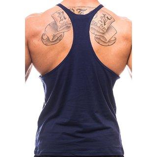 47d4994356b The Blazze Men's Blank Stringer Y Back Bodybuilding Gym Tank Tops Pack of 3