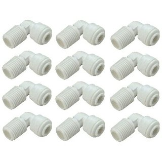RO Elbow Connector 1/4 inch 12Pcs. for RO Water Purifier
