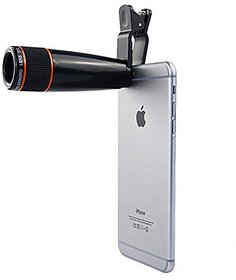 Universal 8X Zoom Mobile Phone Telescope Lens with Adjustable Clip