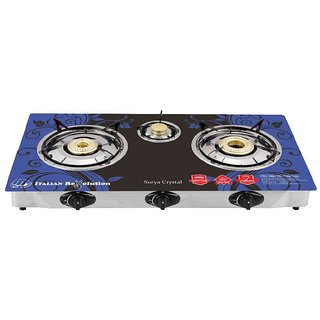 SURYA CRYSTAL 3 burner gas Stove Automatic
