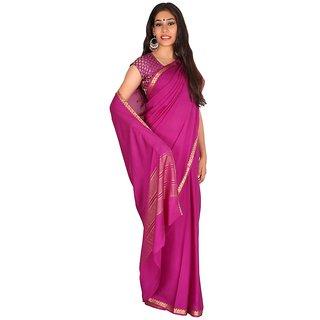 purple colour crape silK saree