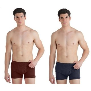 (PACK OF 2) COMMON-COMFORT Men's Trunk/Underwear - Multi-Color