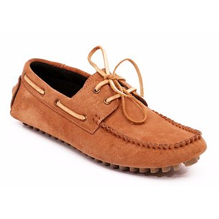 Angelo Mazzi Mens Tan Lace-Up Loafers