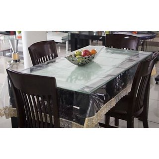Deerosita Solid Transparent Color PVC 8 Seater Table Covers