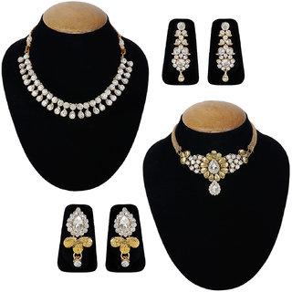 Jewels Guru Exclusive Combo 2 Necklace Set 7 9 17 m1
