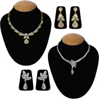 Jewels Guru Exclusive Combo 2 Necklace Set 7 9 17 m2
