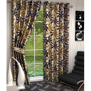 Home Pictures Polyester Window Curtain 152 cm (4 ft) Pack of 2