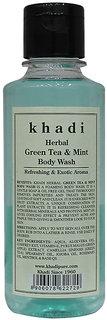Khadi Herbal Green Tea  Mint Body Wash - 210ml