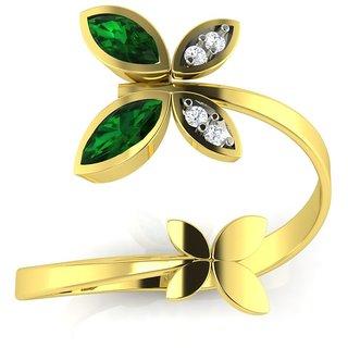 Avsar Real Gold and Diamond Swapna Ring AVR3YA