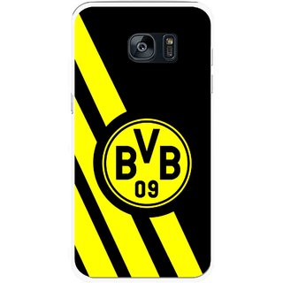Snooky Printed Sports Logo Mobile Back Cover For Samsung Galaxy S7 Edge - Multicolour