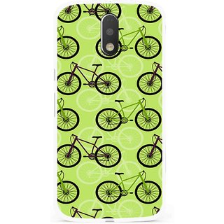 Snooky Printed Cycle Mobile Back Cover For Moto G4 Plus - Multi
