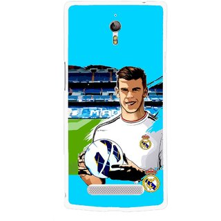 Snooky Printed Football Champion Mobile Back Cover For Oppo Find 7 - Multicolour