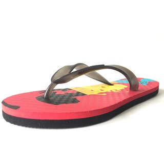 Zaare Men's Flip-Flops and House Slippers - Rockstar Red