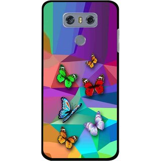 Snooky Printed Trendy Buterfly Mobile Back Cover For LG G6 - Multi
