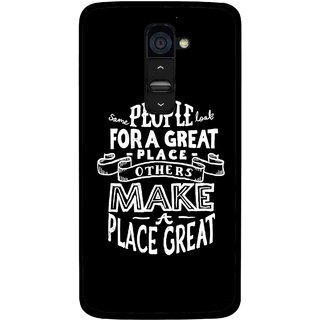 Snooky Printed Personality Attitude Mobile Back Cover For Lg G2 - Multi