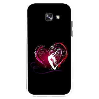 Snooky Printed Lady Heart Mobile Back Cover For Samsung Galaxy A7 (2017) - Multicolour