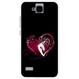 Snooky Printed Lady Heart Mobile Back Cover For Huawei Honor Holly - Multicolour