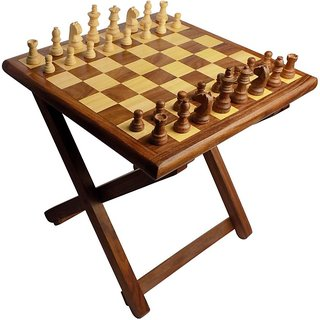 Triple S Handicrafts Wooden Table Chess Game