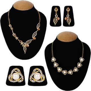 Jewels Guru Exclusive Combo 2 Necklace Set 7 9 17 m3