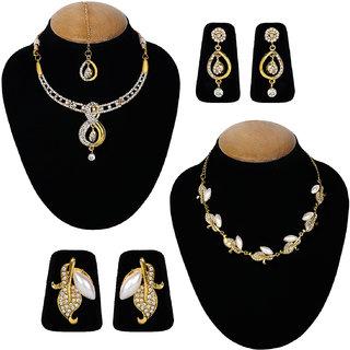 Jewels Guru Exclusive Combo 2 Necklace Set 7 9 17 m6