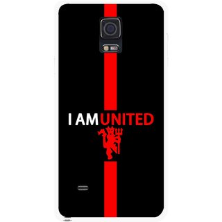 Snooky Printed United Mobile Back Cover For Samsung Galaxy Note 4 - Multicolour