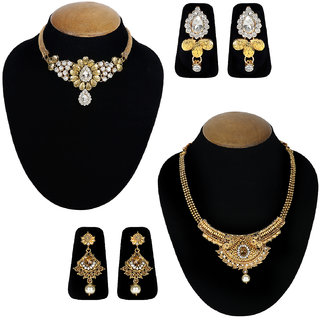 Jewels Guru Exclusive Combo 2 Necklace Set 7 9 17 m7