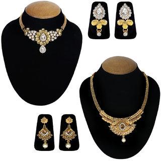 Jewels Guru Exclusive Combo 2 Necklace Set 7 9 17 m7