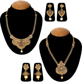 Jewels Guru Exclusive Combo 2 Necklace Set 7 9 17 m12