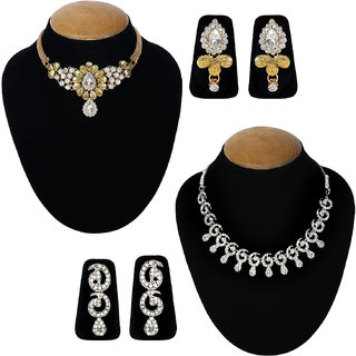 Jewels Guru Exclusive Combo 2 Necklace Set 7 9 17 m13
