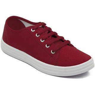 Asian Women's Red Sneakers