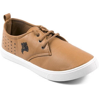 Asian Mens Tan Sneakers