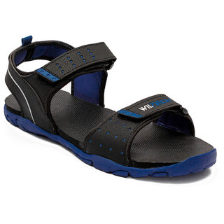 Asian Bold-02 Black Blue Phylon Sandals For Men