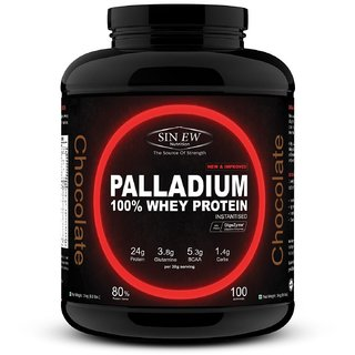 Sinew Nutrition Palladium 100 Whey Protein Concentrate Powder 3 Kg / 6.6 Lbs (100 Servings) Chocolate