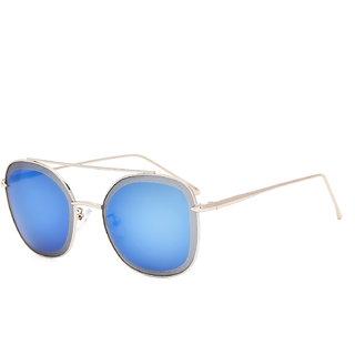 Royal Son Premium Women Sunglasses (HI0004|58|Blue Mirrored Lens)