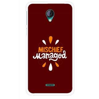 Snooky Printed Mischief Mobile Back Cover For Micromax Canvas Unite 2 - Multicolour