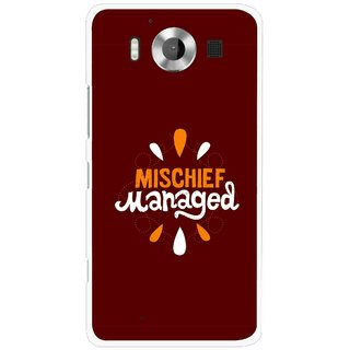 Snooky Printed Mischief Mobile Back Cover For Microsoft Lumia 950 - Multicolour
