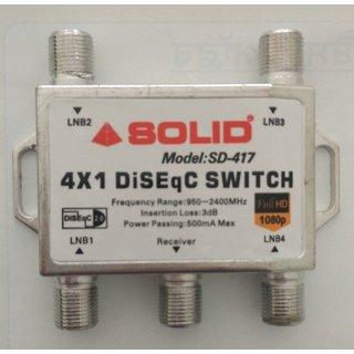DiSEqC Switch Full HD Satellite LNB Multi-Switch 4 in 1 - SD-417